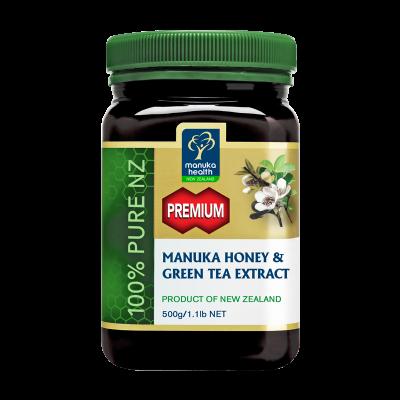 Premium Manuka Honey with Green Tea Extract (500g)