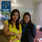Danica Sotto dropped by the Manuka Health booth at the Eastwood