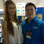 Janeena Chan visits the Manuka Health booth at the Rockwell Bazaar with Charles Ley